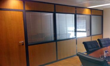 χωρίσματα αλουμινίου χώρου γραφείου